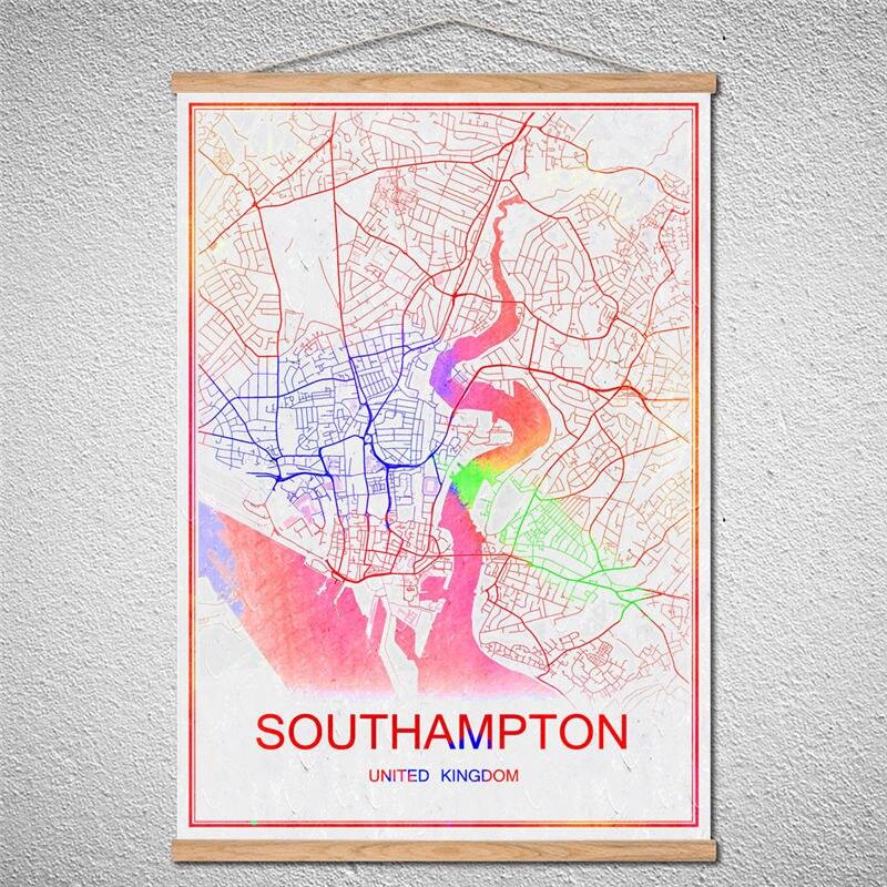 Customized Pattern St Petersburg World Map Modern Canvas City Poster