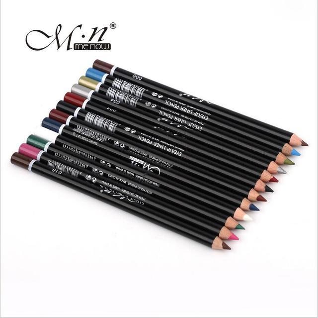 1 Set MENOW 12 Colors Professional Eye Makeup Eyeliner Pencil Waterproof Eyebrow Beauty Pen Eye Liner Cosmetic Tools