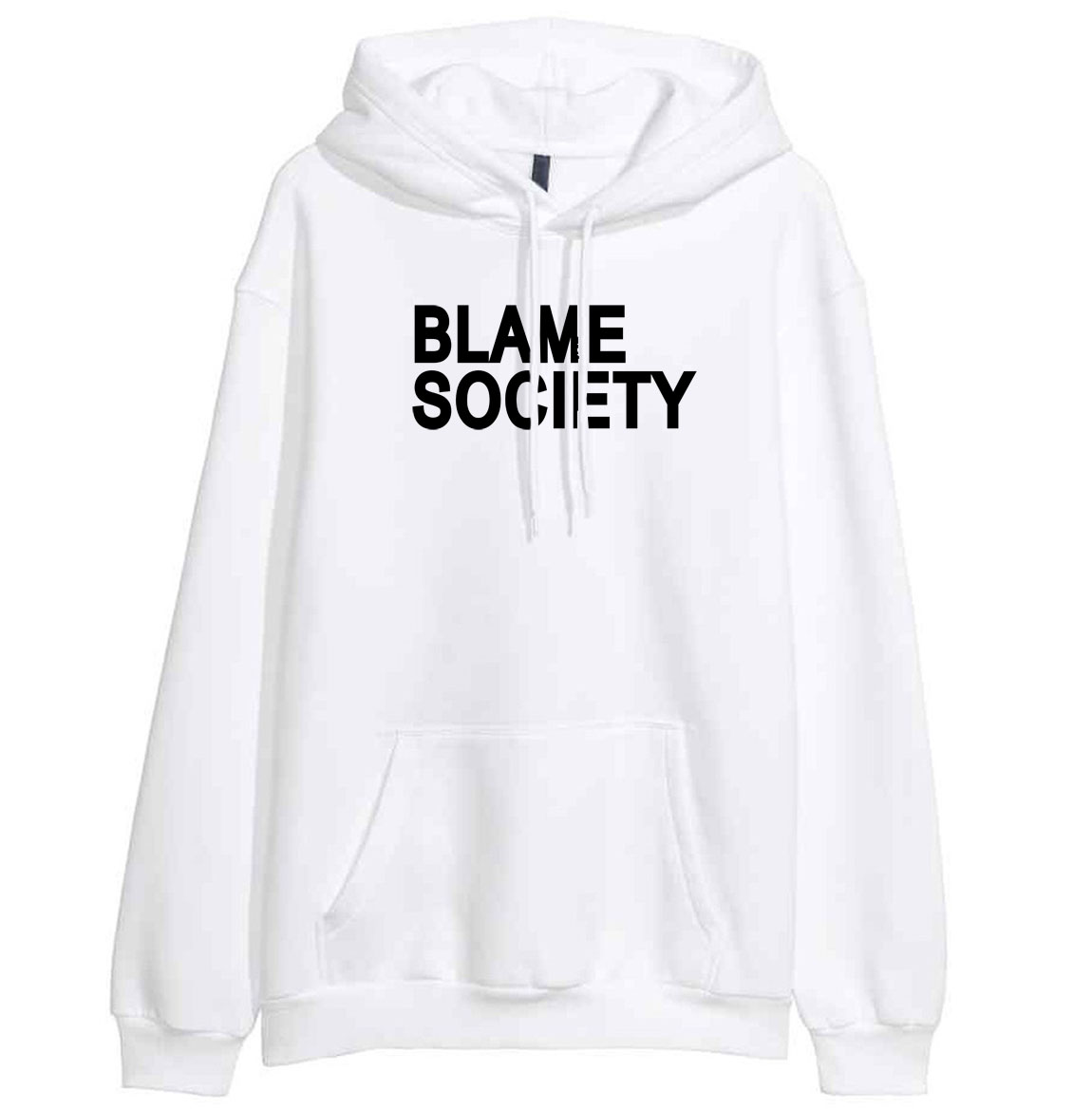 Women's Hoody Print BLAME SOCIETY Fashion Casual Sweatshirts 2019 Spring Winter New Female Sweatshirt Hoodies Harajuku Tracksuit