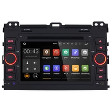 7 Inch Android 5.1.1 Car Multimedia Player For 2008-2011 Toyota Prado Capacitive Touch Quad Core HD1024*600 Free MAP DVD WIFI