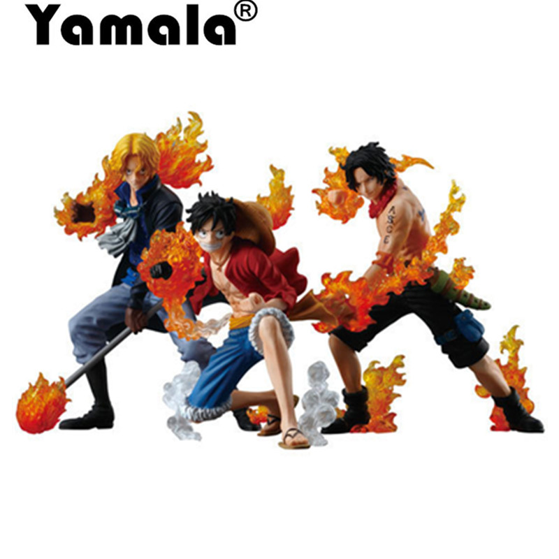 [Yamala] NEW hot 10-14cm One piece Flame three brothers luffy ace Sabo action figure toys Christmas toy model gifts for children one piece sabo pvc action figure toy sabo model collections toy gift doll 16cm anime toys free shipping