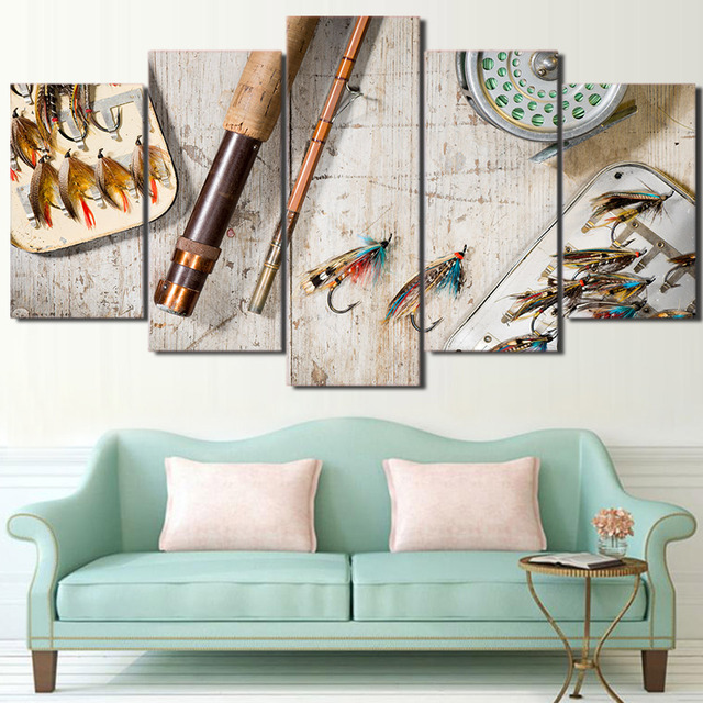Canvas Painting Wall Art Prints Poster Home Decoration Framed 5 ...