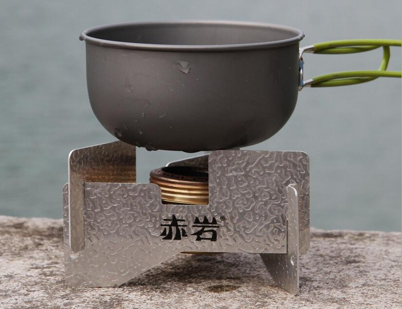 Outdoor wood stove portable stainless steel light weight for Outdoor wood cooking stove