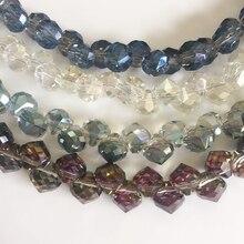 8 мм 100 шт смешанные цвета в виде репчатого лука стеклянные хрустальные отдельные бусины для ювелирных изделий бусины