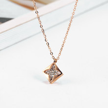 stainless steel necklace jewelry women pendant necklace clover best friends pendant necklace accessories jewellery(China)