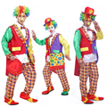 2016 Хэллоуин маскарад клоун маг смокинг костюм взрослый костюм партии клоун забавный клоун костюм партии cosplay