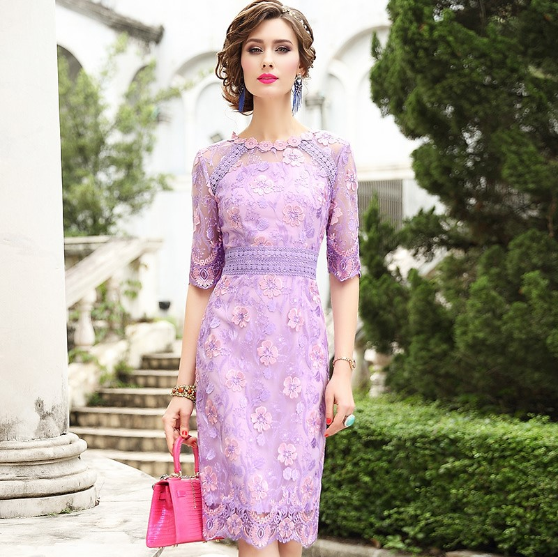Runway Designer Celebrities dress 2019 new office ladies Pencil Flower Women Plus Size Vintage Package hip