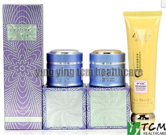 Hot wholesale YIKEMEI  whitening day cream+night cream anti freckle face cream face care