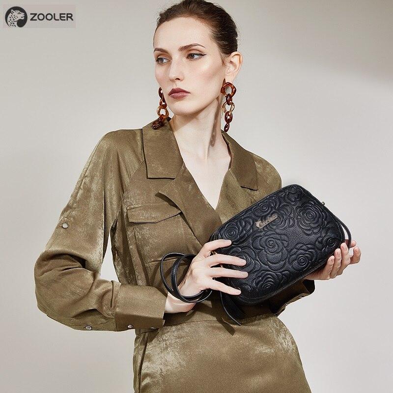 Modes dabīgā ādas soma ZOOLER sieviešu kurjera soma Maza luksusa - Rokassomas