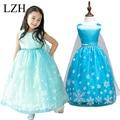 LZH 2016 New Baby Girls Dress Princess Elsa Anna Dress Kids Clothes Children's Clothing Party Cosplay Elegant Princess Costume