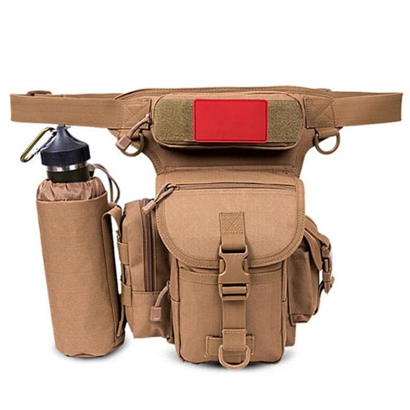 New Outdoor Tactics Waist Pack Bag Waterproof Nylon Travel Bag Waist Bag Men Leg Bag Motorcycle Fanny Pack Waist Packs S255 outdoor leisure waist bag black
