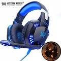KOTION JEDER G2000 Gaming Headset Stereo Sound 2 2 m Wired Kopfhörer Noise Reduction Über Ohr Stirnband Mit Mikrofon Für PC Spiel-in Kopfhörer/Headset aus Verbraucherelektronik bei