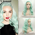 Turquoise Synthetic Lace Front Wig Body Wave Light Blue Synthetic Wigs Heat Resistant Hair Women Wigs