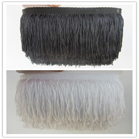 100 Yards 10CM/ Long Lace Fringe Trim Polyester Tassel Fringe Trimming For Diy Latin Dress Stage Clothes Accessories Lace Ribbon