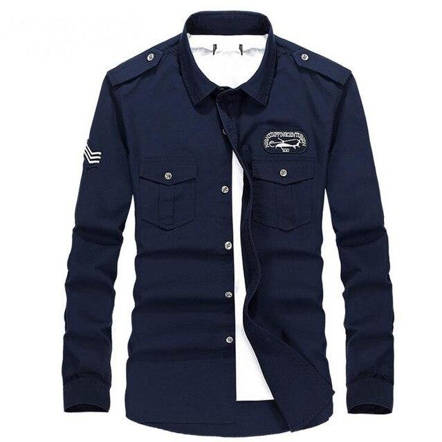 2016 New Fashion Casual Men Shirt Long Sleeve Stand Color Slim Fit Shirt Men Korean business Mens Dress Shirts Men Big Size