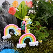 Garden Miniature Fairy Figurines Rainbow Hot Sale Decoration Rainbow Fairy  Garden Miniatures Rainbow Terrarium Figurines