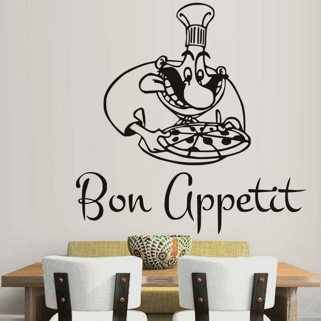 chef wall vinyl decal chef restaurant cook kitchen decor removable