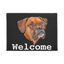 Boxer Dog Doormat Home Decoration Entry Non slip Door Mat Rubber Washable Floor