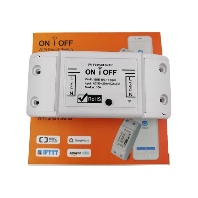 SCW NF101 interruptor Wifi básico DIY control remoto inalámbrico Domotica luz inteligente hogar automatización módulo de relé controlador funciona con Alexa