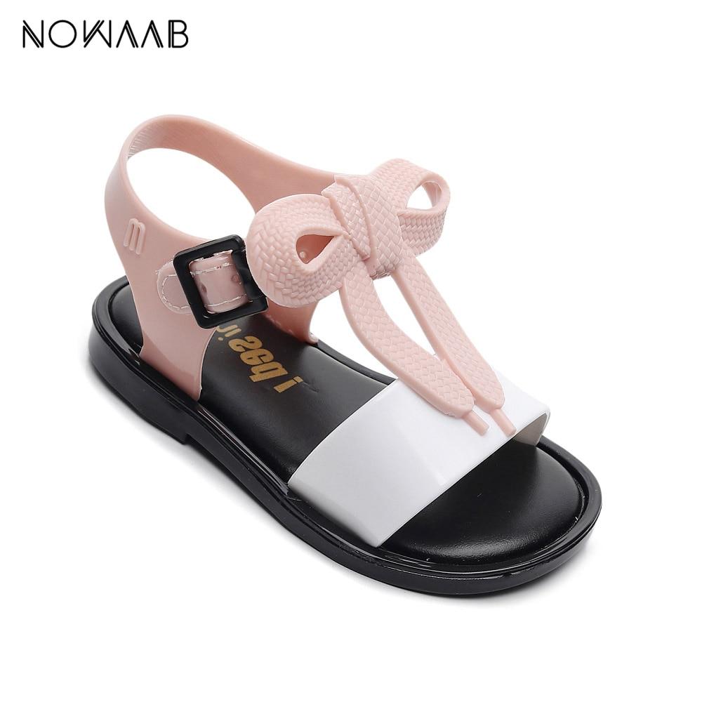 Mini Melissa Mar 2019 Summer Jelly Sandals Girls Shoes Girl Princess Sandals Kids Beach Sandals Non-slip Kids Toddler Sandals