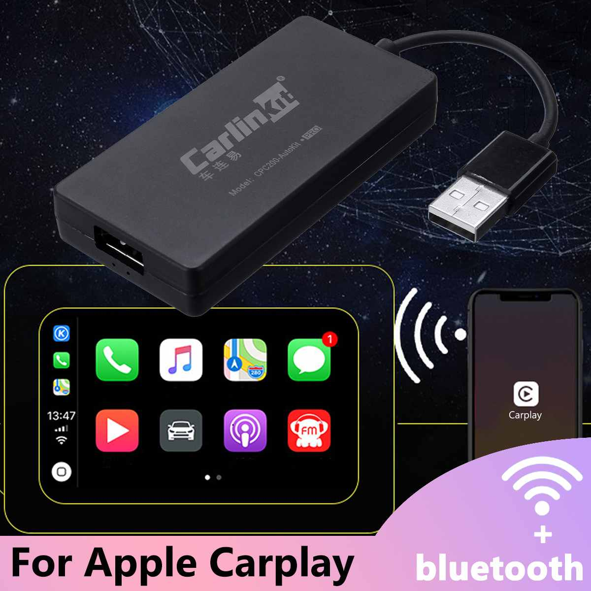 Mini-clé USB pour lecteur de Navigation avec Android Auto Carlinkit sans fil Smart Link pour Apple CarPlay Dongle pour Android