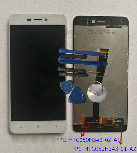 RYKKZ For FPC-HTC050H343-02-A1 LCD Display With Touch Screen FPC-HTC050H343-01-A2 Digitizer Assembly Replacement With ToolsRYKKZ For FPC-HTC050H343-02-A1 LCD Display With Touch Screen FPC-HTC050H343-01-A2 Digitizer Assembly Replacement With Tools
