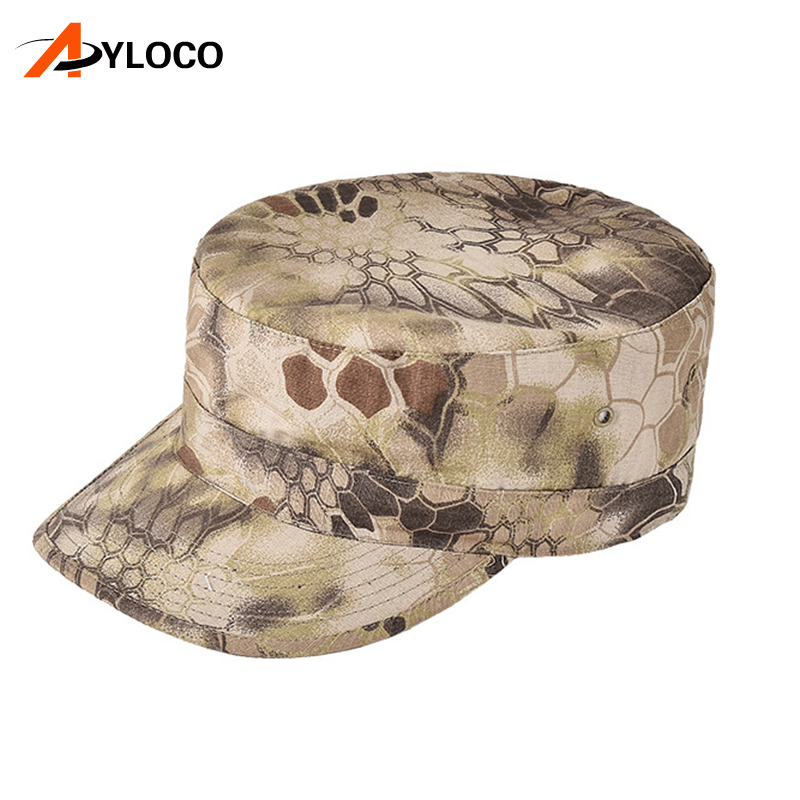 Army Fans Outdoor Military Cap Men Jungle Camouflage Flat Cap Cadet Field Training Tactical Hats Snapback Breathable Hunting Hat