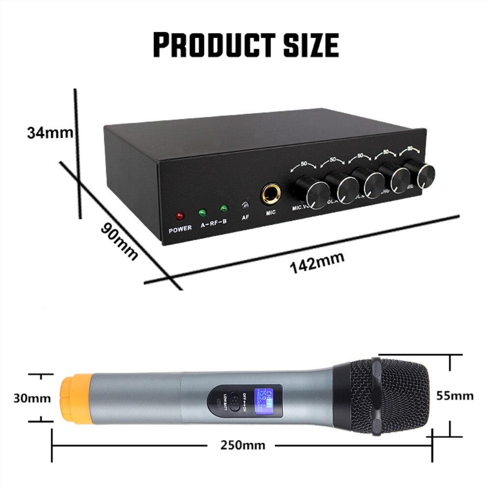 Karaoke Microfoon Dynamische Home System Dual MIC voor Computer TV Projector Mobiele Telefoon Radio Mini Draadloze Microfoon Bluetooth