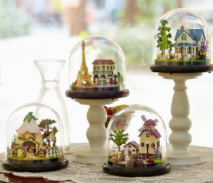 Transparent Cover Villa Model Music Box Hot Selling Creative Birthday Gift For Girlfriend Children Home Decoration Accessories