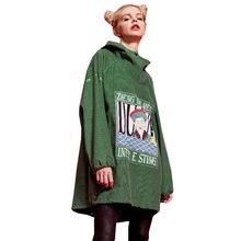 Bts Spring Summer Women Plus size Sweatshirts 2018 New Long Paragraph Loose Hooded Print Corduroy Unicorn Harajuku hoodies Z199