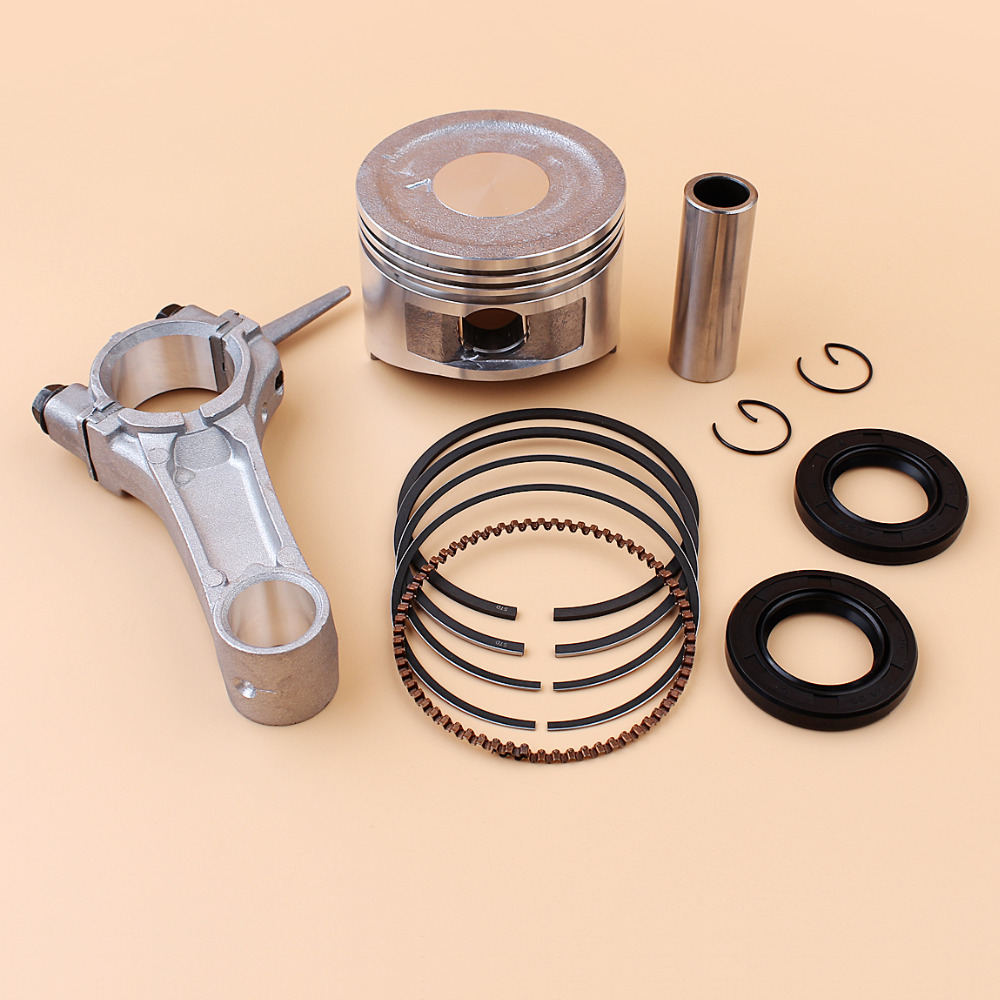 68mm Piston Rings Connecting Rod Crankshaft Oil Seal Kit For HONDA GX160 GX 160 Chinese 168F 5.5HP Engine Motor Trimmer Mower