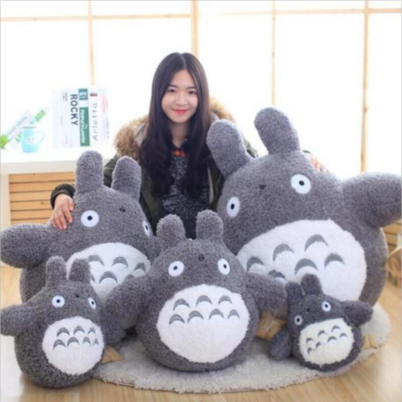 1pcs Totoro Pplush Toys 30cm/40cm/50cm Famous Cartoon Totoro Plush Dolls Soft Stuffed Toys Cushion High Quality Doll Kids Gift hot sale 60cm famous cartoon totoro plush toys smiling soft stuffed toys high quality dolls factory price in stock
