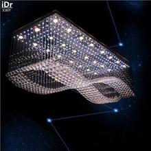 Criativo moderno de alta qualidade de baixa tensão engenharia lâmpada de cristal led luz de cristal retangular luzes de teto l1200xw700mm