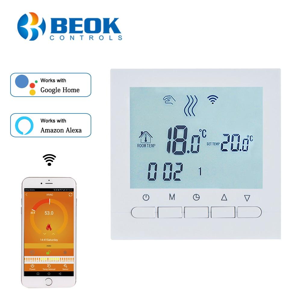 Программируемый Регулятор температуры BEOK для газового котла, умный Wi-Fi термостат и термостат с ручным управлением с блокировкой для детей
