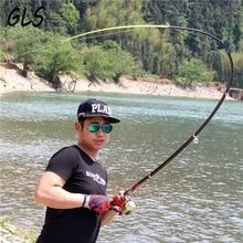 Sale 99% Carbon Fiber Telescopic Fishing Rod 2.1/2.4/2.7/3.0/3.6m High Performance Spinning Sea Marine fishing Fishing Pole