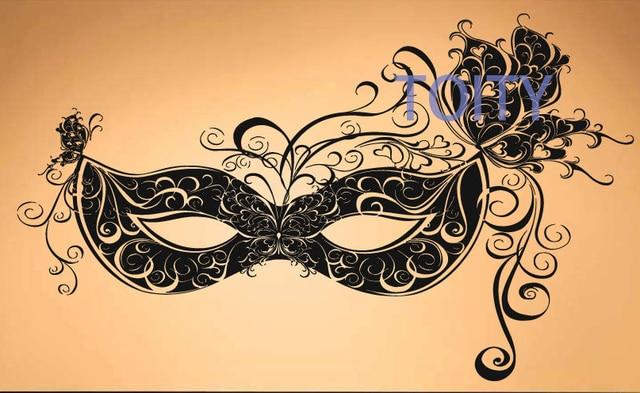 Carnaval Veneciano Mascara Pared Vinilo Decal Pegatina Decor Mural
