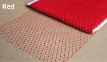 100yard/lot  Red 9(22cm) Birdcage Bridal Veils Veiling Taiwan