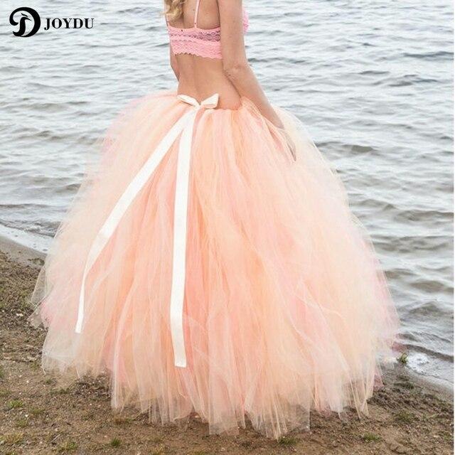 Long Tulle Ball Gown Skirt