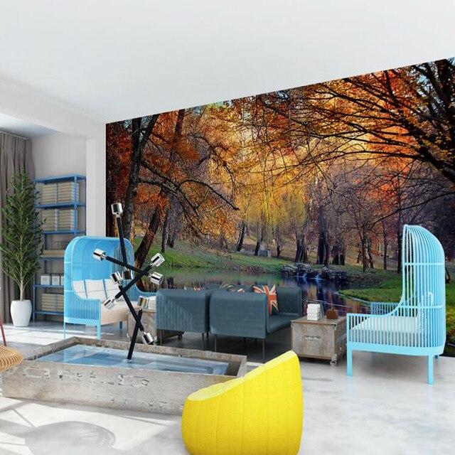 Online-Shop 3D schöne herbst wald wälder tapete wohnzimmer ...