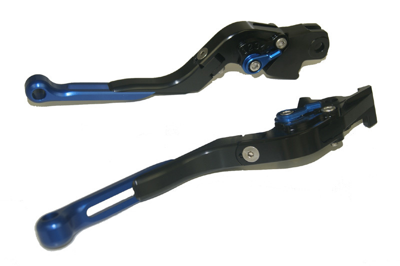 Motorcycle Brake Clutch Levers Adjustable Folding Extendable Blue+Black For BMW F800S F800ST F800GS F800R F650GS adjustable billet short folding brake clutch levers for bmw f 650 700 800 gs f650gs f700gs f850gs 08 15 09 10 f 800 r s st 06 15