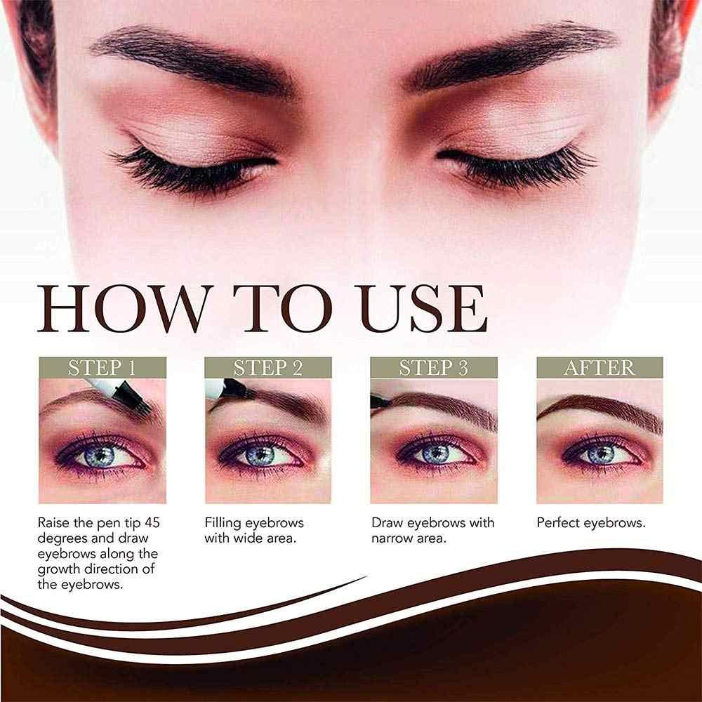 4 renk 4 Kafa Kına Kaş Kalemi Microblading Göz Kaş Kalem Brwi Kaşları Tonları Makyaj Kozmetik Sourcil Kaş Dövme kalem Kaş Kına Makyaj Araçları
