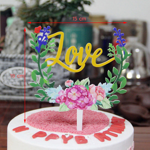 Image 2 - Décoration de gâteau en acrylique 1 pièce