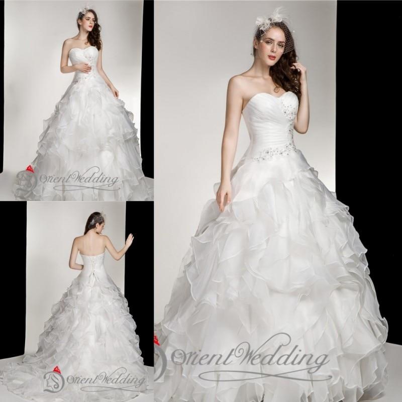 Simple Elegant Country Style Wedding Dresses With Lace: Fashion Elegant Sweetheart Lace Up Custom Made Plus Size
