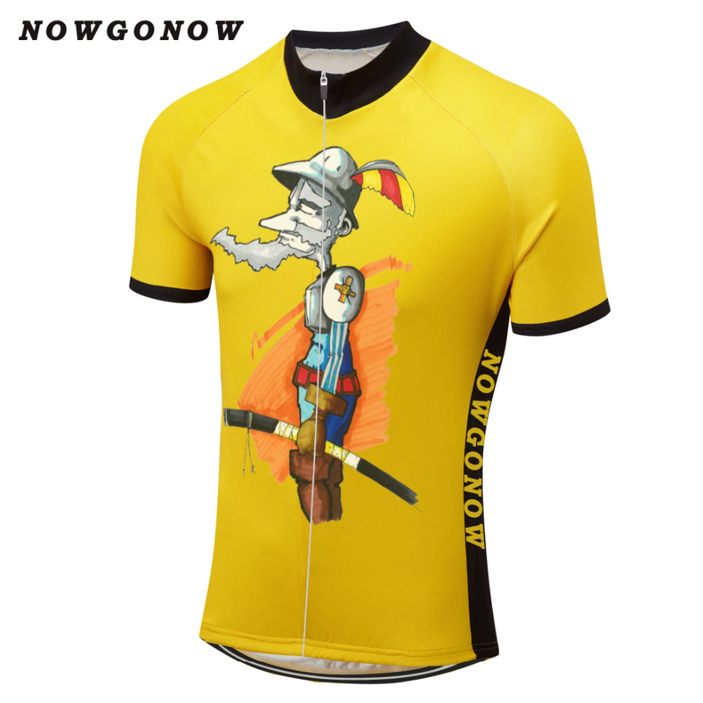 Man 2017 cycling jersey brand cartoon summer bike clothing