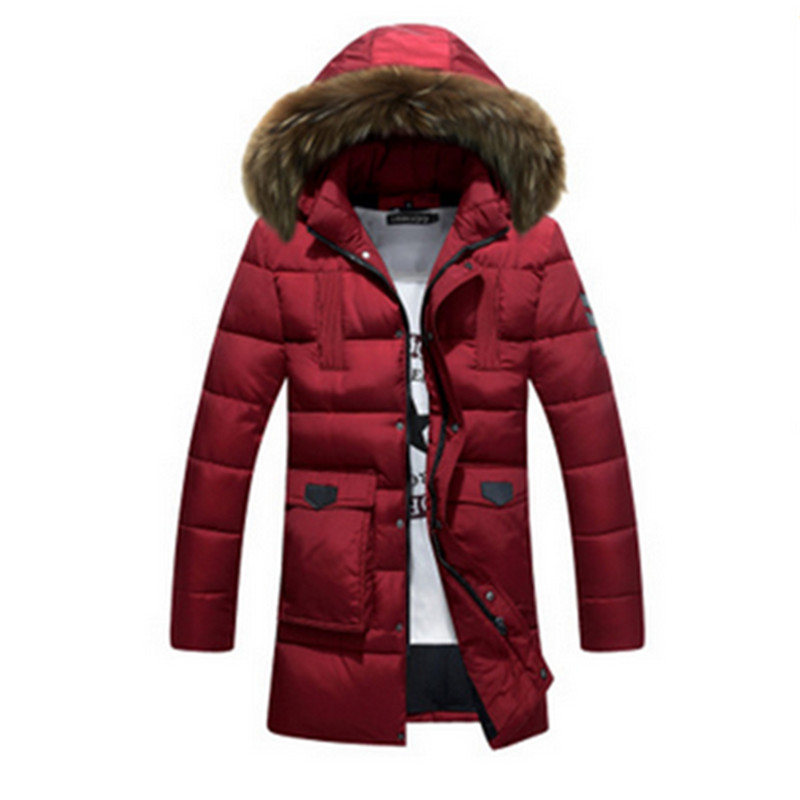 2017 Winter Warm Hooded Men Down Jackets Casual Duck Down Coats & Jackets Thicken Outwear Casual Solid Parkas