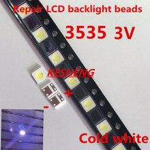 Диоды ТВ ПОДСВЕТКА 1 Вт 3 в 3535 SMD светодиодный Televisao холодный белый 100lm 3537 холодный белый с подсветкой ЖК-подсветка для ремонта телевизора 1000 шт