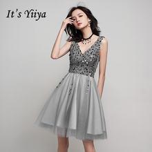 Женское коктейльное платье it's yiiya элегантное блестящее