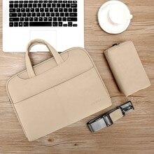 High Quality Women Laptop Shoulder Bags Men Leather Handbags Shock-absorbing Pro