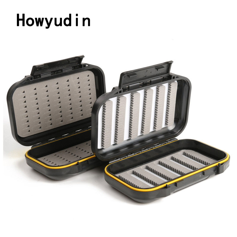 136*86*36mm Fly fishing fishing accessories Tied hooks waterproof box ABS plastic ABS plastic box fly tying tools storage boxes