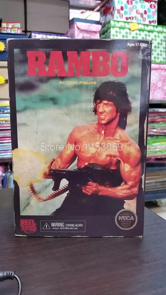 NECA RAMBO First Blood Part II Action Figure 7 Classic Video Game Appearance Collectible Model Toy neca planet of the apes gorilla soldier pvc action figure collectible toy 8 20cm